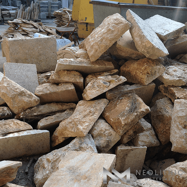 Pile of High Quality First Biblical Limestone used for flooring and many more