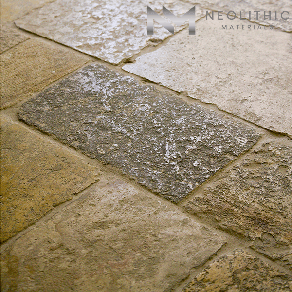 Close up image of Classic First Biblical Limestone used in the flooring