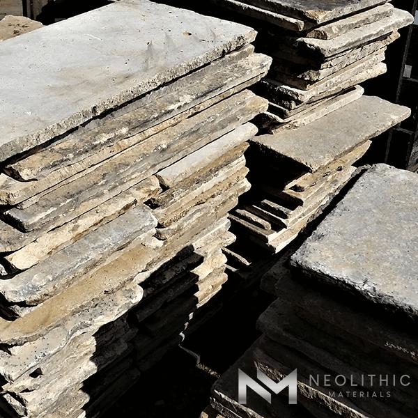Pile of an Antique Italian Flooring
