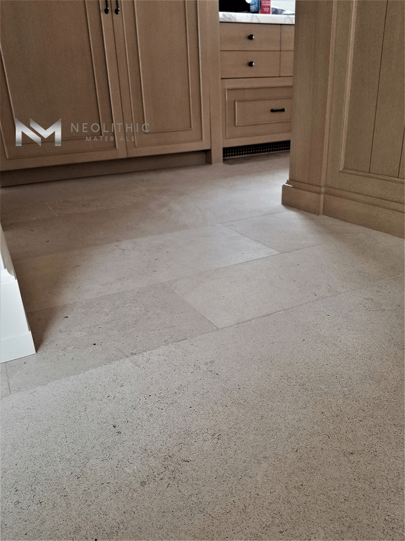 Close up view of High Quality Dalle de Foix Flooring installed in a house