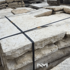 Pile of stock of Antique Italian Limestone used for flooring, walling, and many more