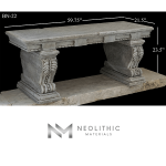 Image of BN-22-a one of the Limestone Benches product of Neolithic Materials