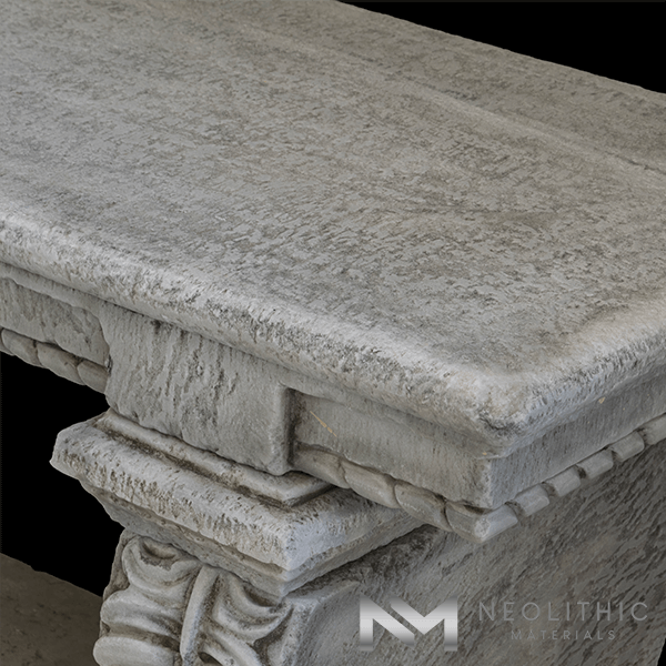 Image of BN-22-e one of the Classic Reclaimed Stone Benches product of Neolithic Materials