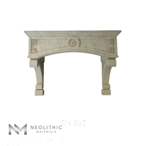 Front view of CH 851 one of Reclaimed Stone Kitchen Hoods of Neolithic Materials