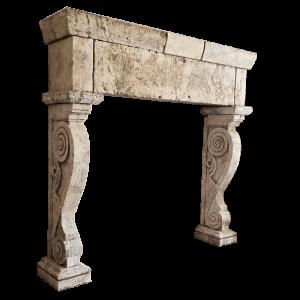Newly Carved Fireplace 330
