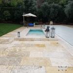 Reclaimed Maltese Limestone Blocks installed in a classic pool