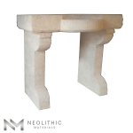 Side view of RSK 104 - BU 100 one of Reclaimed Stone Sinks of Neolithic Materials