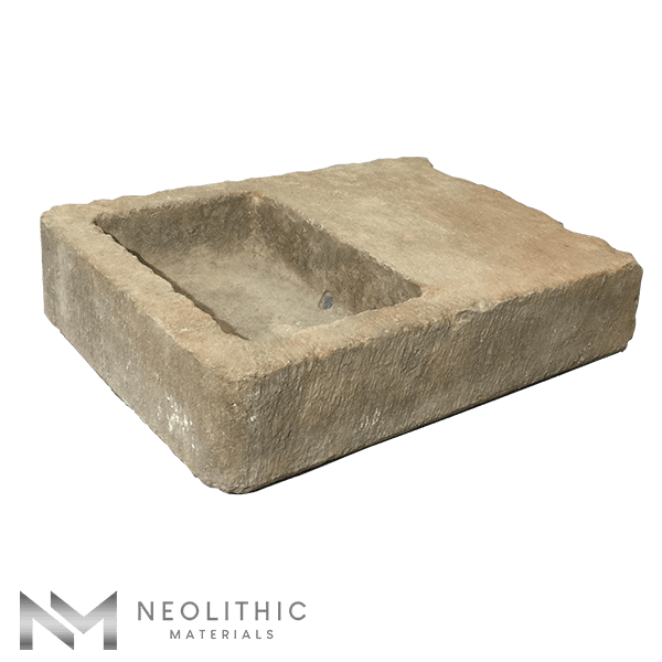 Side view of RSK 65 - BU 100 one of High Quality Stone Sinks of Neolithic Materials