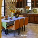 High Quality Antediluvian Limestone used in the flooring of a nice dining room