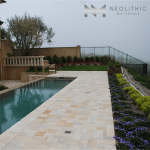 Best Reclaimed Antediluvian Limestone used in the flooring of a pool