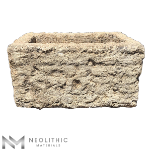 Front view of TR 03 - BU 104 one of Rectangular Stone Trough Sinks of Neolithic Materials