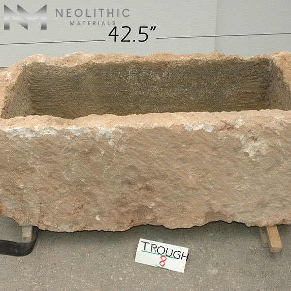 Front view with measurement of TR 08 one of Rectangular Stone Sinks of Neolithic Materials