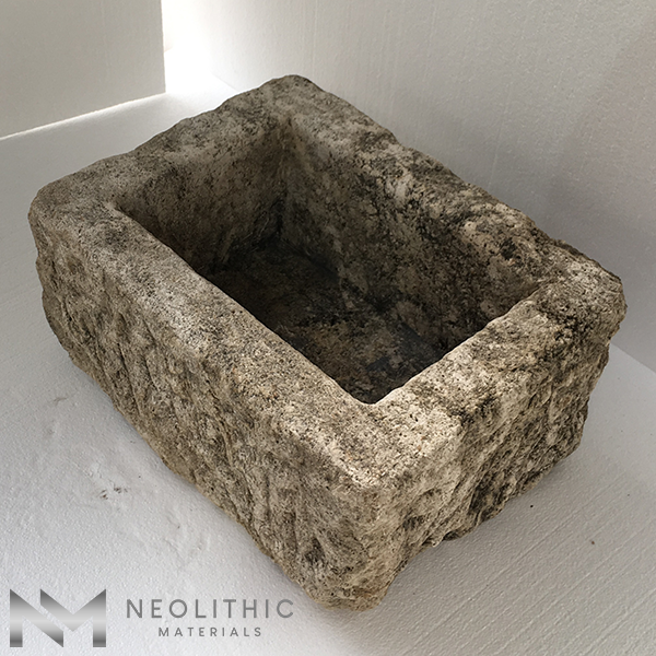 Upper side view of TR 15 one of Antique Stone Trough Sinks of Neolithic Materials