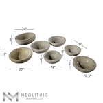 Product Image with measurement of seven Stone Trough Sinks one of the products of Neolithic Materials