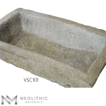 Upper view with measurement of VSC101 - TR 103 one of Reclaimed Stone Trough Sinks of Neolithic Materials